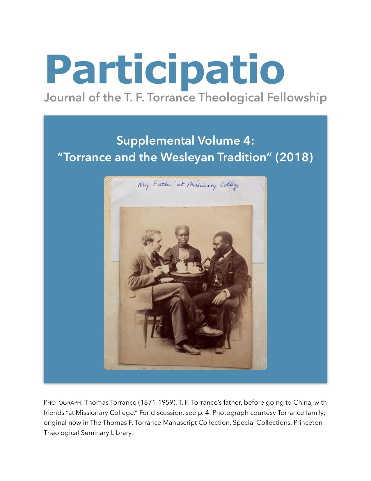 Participatio 2018, Supplement volume 4, cover page